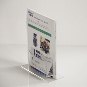 Pleksiglas stand up sign holder